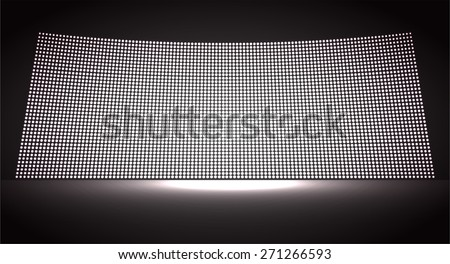 cinema screen for movie presentation. Light Abstract Technology background for computer graphic website internet and business. black background. Pixel, mosaic, table. point, spot, dot - stock vector