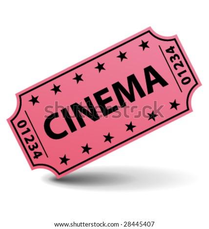 Cinema ticket vector - stock vector