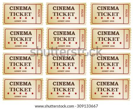 Cinema tickets -background, vector ,eps 10 - stock vector