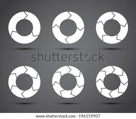 Circle arrows set - stock vector