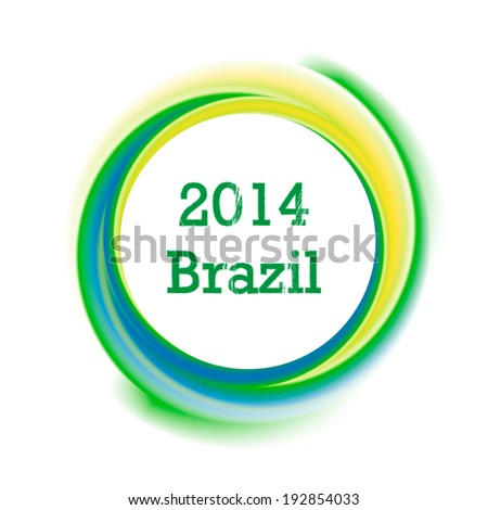 Circle background in Brazil flag concept, vector illustration  - stock vector