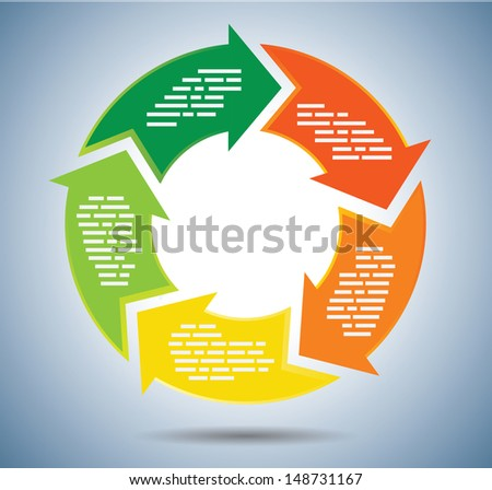 Circle chart with Arrows - stock vector