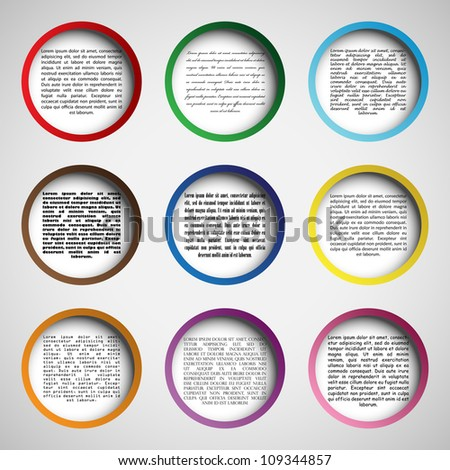 Circle design for your web site, vector illustration, eps10, 3 layers - stock vector