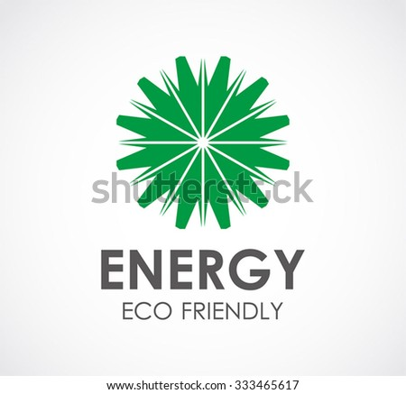 Circle energy of eco friendly abstract vector and logo design or template natural business icon of company identity symbol concept - stock vector