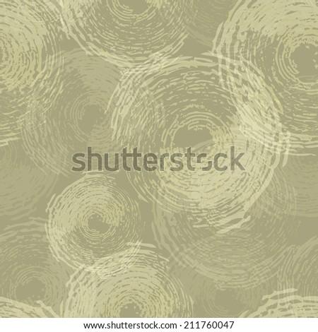Circle grunge seamless pattern - stock vector
