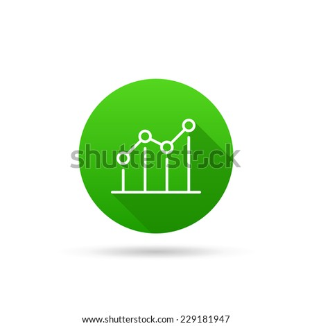 Circle icon on a white background characterizing growing trend. Vector illustration - stock vector