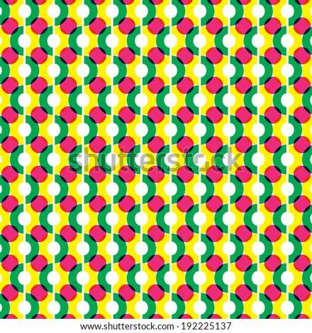 Circle illusion pattern graphic design - stock vector