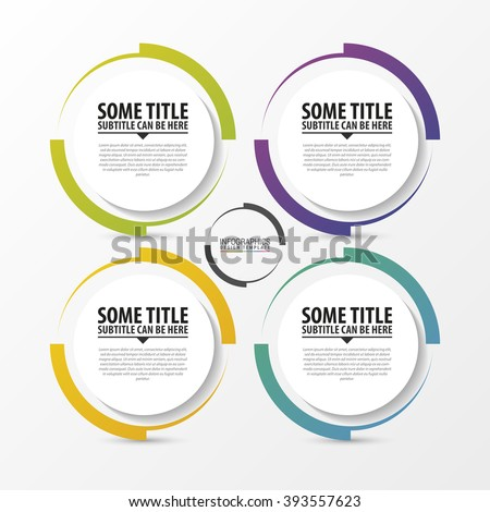 Circle infographic. Template for diagram. Vector illustration - stock vector
