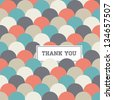 circle japanese seamless pattern background vector, thank you card - stock vector