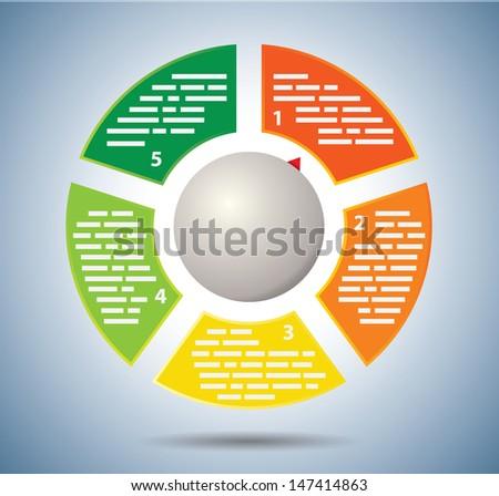 Circle multicolor graph - stock vector