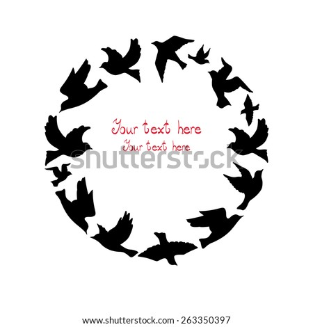 Circle of birds. - stock vector