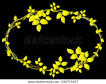 Circle of gold roses with thorns. EPS10 vector illustration. - stock vector