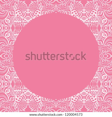 Circle on seamless pattern. Template with copy space. - stock vector