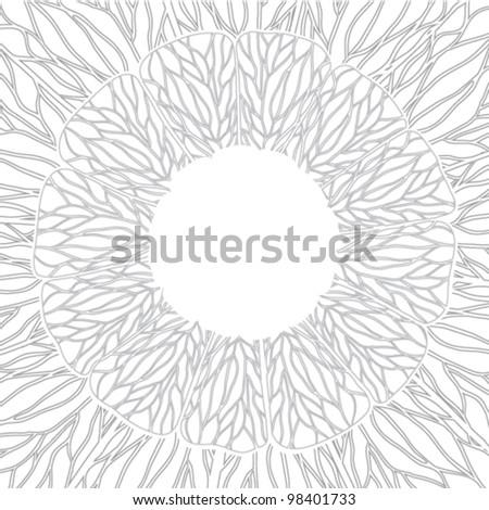 Circle ornament, ornamental round lace. - stock vector