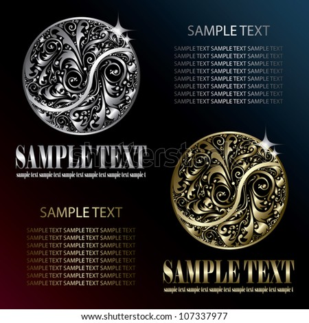 Circle shaped label - vector illustration - stock vector