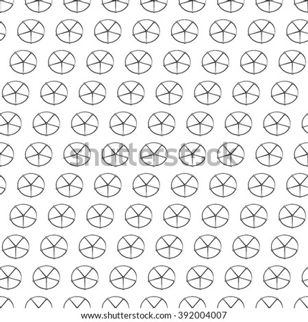 Circle star, monochrome pattern, seamless vector background. - stock vector