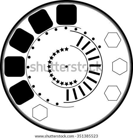 Circle . Technology Circle, Lines in Circle Form . Vector Illustration .Tech Circle Logo . Vector . - stock vector