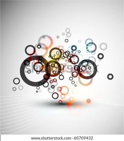 Circles composition. Vector design - stock vector