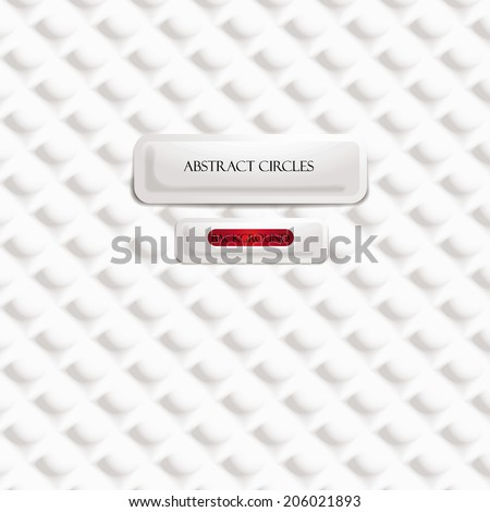 Circles design white background - stock vector
