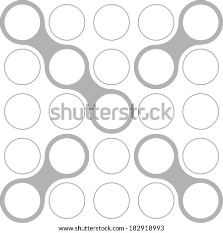Circles, font, modern style, vector, set, X - stock vector