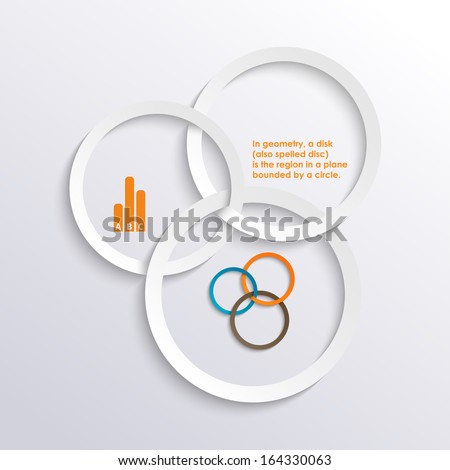 circles graphic paper abstract design background - stock vector