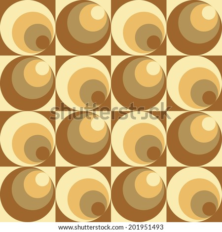 Circles In Circles pattern repeats seamlessly. - stock vector