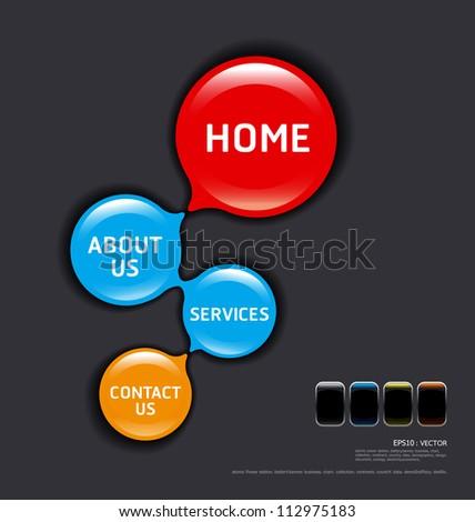 circles modern web design template vector - stock vector
