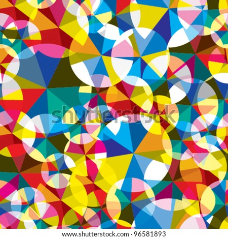 Circles seamless pattern. Vector background. - stock vector