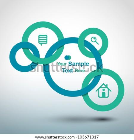 Circles web design - stock vector