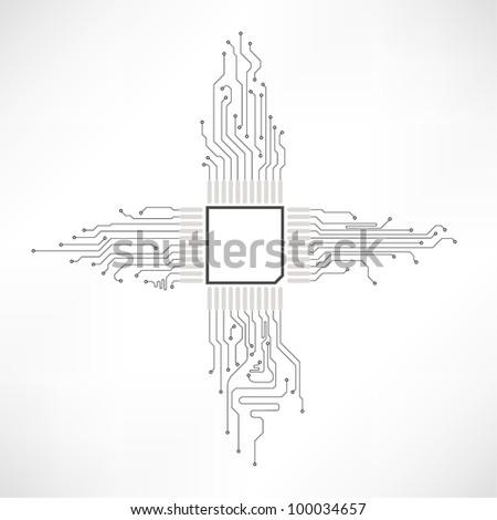 circuit board abstract element vector - stock vector