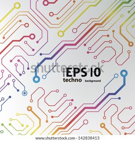 circuit board background. eps10 vector illustration - stock vector