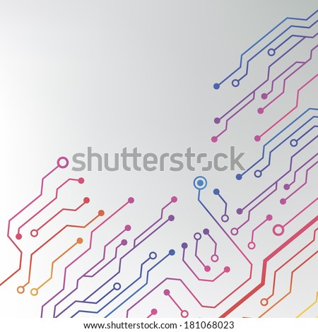 circuit board pattern. abstract technology hi-tech circuit board texture  - stock vector