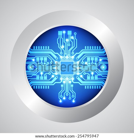 circuit board technology background vector illustration - stock vector