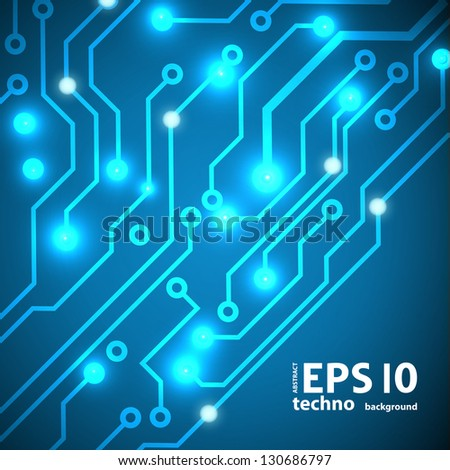 circuit board vector background. eps10 vector illustration - stock vector