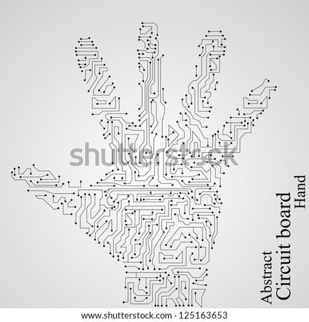 Circuit hand - stock vector