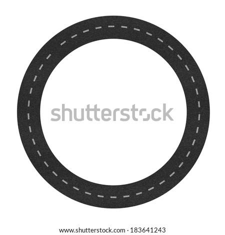 circuit road - stock vector