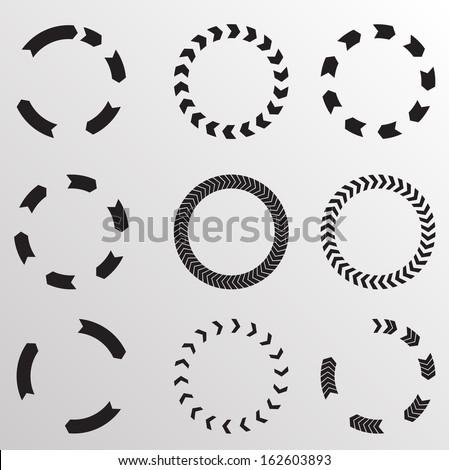 Circular arrows - stock vector