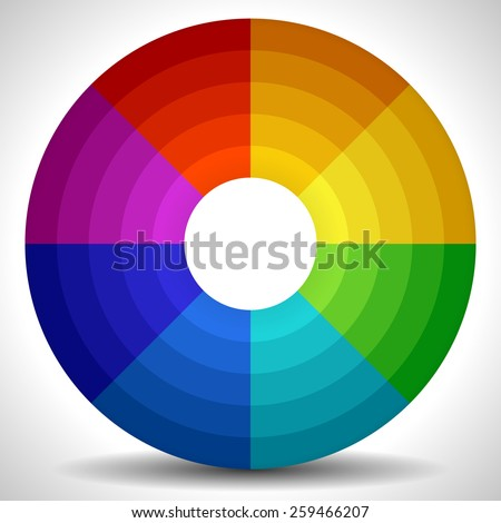 Circular Color Wheel / Color Palette - stock vector