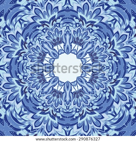 circular  decorative background with many details. Abstract geometric ethnic pattern. Geometric ethnic round ornament. Illustration for greeting cards, invitations, and other printing projects.  - stock vector