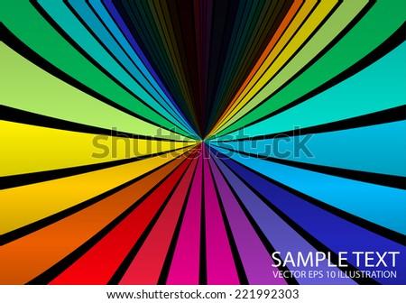 Circular rainbow spectrum vector color background illustration - Vector colorful   background illustration template - stock vector