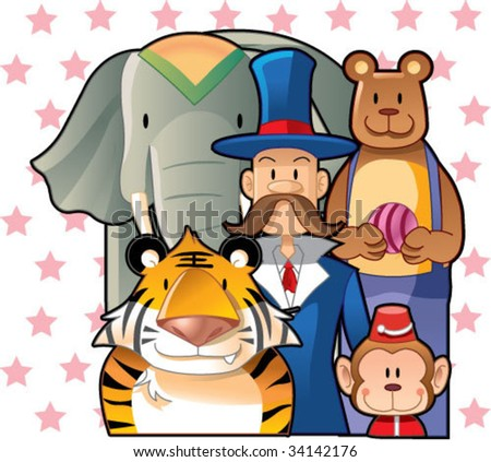 circus animals - stock vector