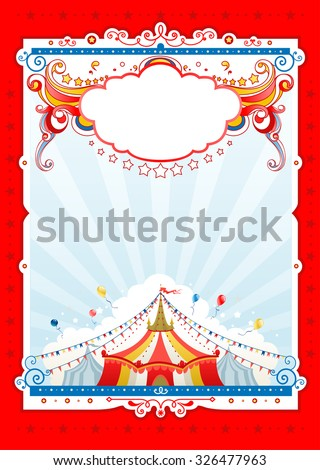Circus background  for design of card, banner, leaflet and so on. - stock vector