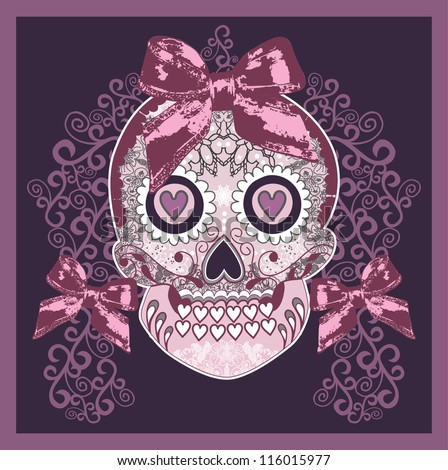 Circus design template with magician skull. - stock vector