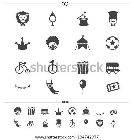 Circus Icons.vector eps10 - stock vector