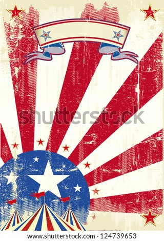 Circus of america.  A circus background for a poster on american theme. - stock vector