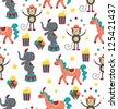 circus pattern design. vector illustration - stock vector