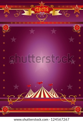 Circus purple poster. A circus purple poster for your show. - stock vector