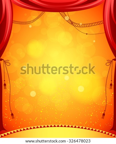 Circus stage for design of card, banner, leaflet and so on. - stock vector