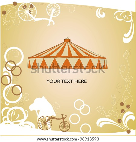 Circus tent with space for text. Vector illustration. - stock vector