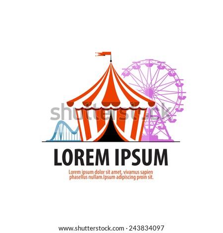 circus vector logo design template. attraction or fair icon. - stock vector